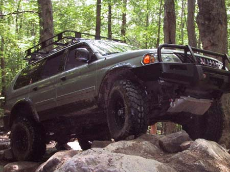 montero sport off road trail