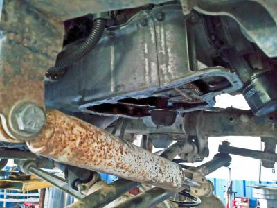 mitsubishi 3.5 oil pan sump oil pickup